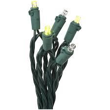 green led string lights shop gemmy 10 5 ft 10 light green led plug in bulbs string lights at