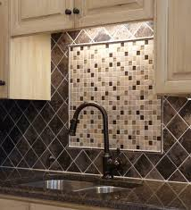 Looking Moen Parts In Kitchen Traditional With Glazed Cabinets - Kitchen medallion backsplash