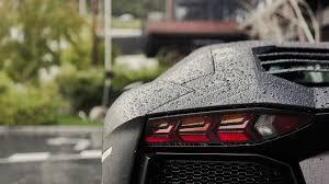 grey lamborghini wallpaper lamborghini aventador lp 750 4 rain black cars water drops