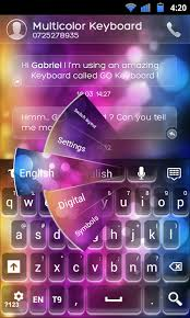 go keyboard multicolor theme android apps on play
