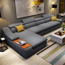Sectional Sofas Modern Living Room Furniture Modern L Shaped Fabric Corner Sectional Sofa