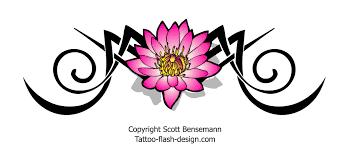 tribal lotus flower design pink free flash