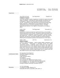 firefighter resume templates one page firefighter resume template