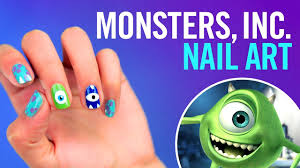 monster u0027s inc nail art tutorial tips by disney style youtube