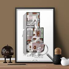 221b baker street floor plan amazon com sherlock holmes 221b baker street london floor plan