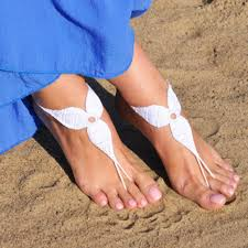 barefoot sandals for wedding aliexpress buy crochet white barefoot sandals foot jewelry