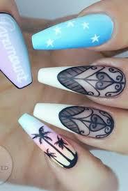 palm tree nails design nailart getbuffednails summer nails