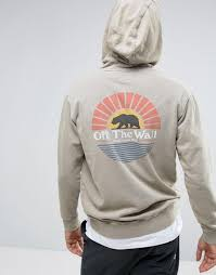 old vans shoes vans off the wall oversized hoodie in beige