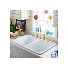 american standard americast sink 7145 american standard 7145 001 345 bisque double basin americast kitchen