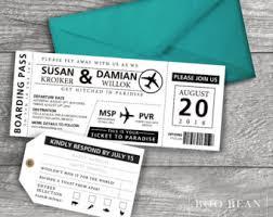 boarding pass wedding invitations wonderful destination wedding boarding pass invitations
