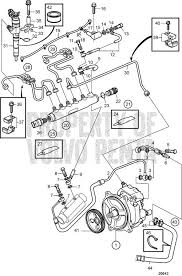 volvo penta exploded view schematic fuel system d4 180i b d4