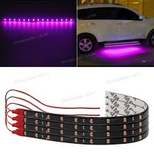 Auto Led Strip Lights by 4pcs Pink Purple Led Strip Lights Interior Exterior Glow Neon