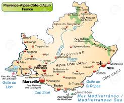 Marseille France Map by Map Of Provence Alpes Cote D Azur As An Overview Map In Pastel