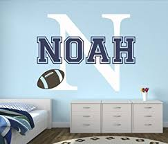 Sports Nursery Wall Decor Custom Football Name Wall Decal Baby Room Decor