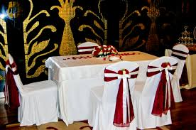 white gold red wedding theme decorating of party