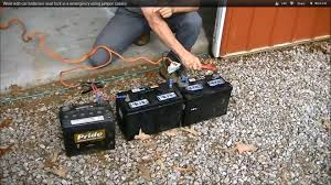 weld with car batteries neat trick in a emergency using jumper