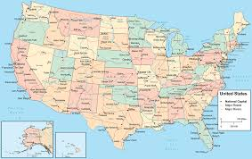 Map Of Americas Map Of America Showing States And Cities Maps Of Usa