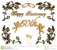 Marriage Anniversary Invitation Card 50th Wedding Anniversary Invitation 3d Royalty Free Stock Image