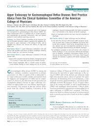upper endoscopy for gastroesophageal reflux disease best practice
