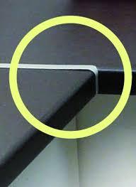 jonction plan de travail cuisine jonction angle plan travail 670mm alu 1 4 rond 6 8mm epaisseur 38mm