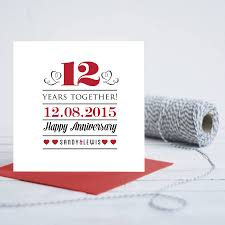 personalised wedding anniversary card by gift library