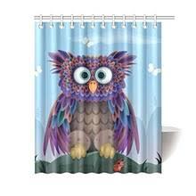 Owl Fabric Shower Curtain Popular Owl Bathroom Buy Cheap Owl Bathroom Lots From China Owl