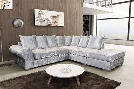 agreeable silver crushed velvet sofa uk for home decor arrangement