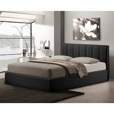 Black Platform Bed Queen Shop Beds At Lowes Com
