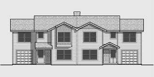 House Plans For Two Families Duplex House Plans Shallow Lot Multi Family Plans D 461