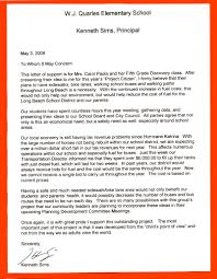 formal letter to principal budget template free