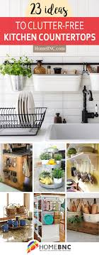 kitchen counter decorating ideas 23 best clutter free kitchen countertop ideas and designs for 2018
