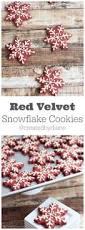 red velvet snowflake cookie snowflake cookies christmas cookie