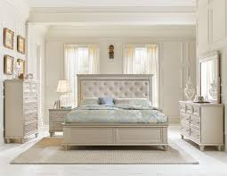 Upholstered Bedroom Furniture by Homelegance Celandine Upholstered Bedroom Set Silver B1928 1