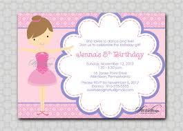 birthday invites simple ballerina birthday invitations designs