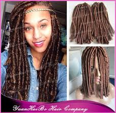 faux dreads with marley hair new stock 15 fold medium brown 4 synthetic dreadlocks marley