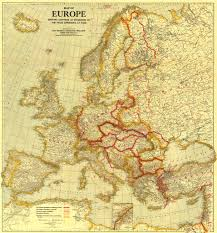 Western Europe Physical Map by National Geographic Thematic Maps Launch In New Google Tool
