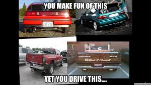 Diesel Truck Meme - truck ricer vs honda ricer