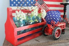 Red White And Blue Home Decor Home Decor My Summer Mantel The Country Chic Cottage