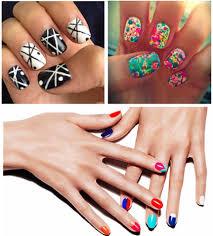 green hand nail painting necessary nail art acrylic paints