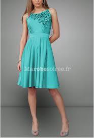 robe turquoise pour mariage robe de soirée en taffetas bustier décoré des fleurs