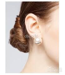 large stud earrings 2017 major suit style large pearl stud earrings hug