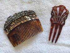 vintage hair combs tortoise shell comb ebay