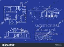 floor plan with perspective house perspective 3d floor plan cross section stock vector 564417511