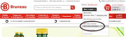 catalogue bruneau bureau les codes avantages sur le site bruneau fr