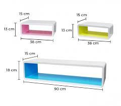 mensole laccate lucide set 3 mensole componibili di design colorate in 3d rettangolari
