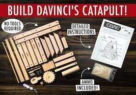 da vinci u0027s catapult build a wooden desktop siege engine