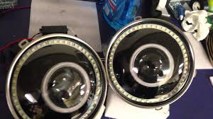 headlights jeep wrangler jeep wrangler jk bi xenon headlights eye shrouds and led