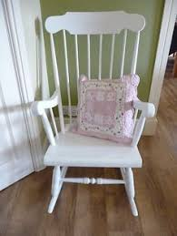 white bentwood rocking chair rocker white nursery chair pink