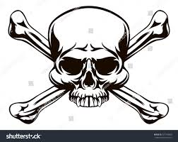 skull cross bones drawing like stock illustration 537743860