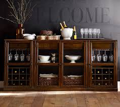 Bar Hutch Cabinet Saxton Low Bar Suite Pottery Barn